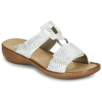 Pantofi Femei Papuci de vară Rieker MOLLY Argintiu