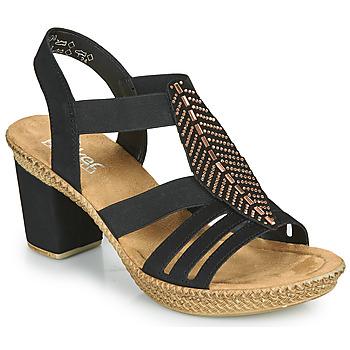 Pantofi Femei Sandale  Rieker ROOT Negru