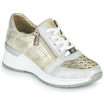 Pantofi Femei Pantofi sport Casual Rieker LEA Auriu / Argintiu