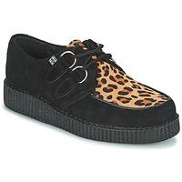 Pantofi Pantofi Derby TUK LOW FLEX ROUND TOE CREEPER Negru / Leopard