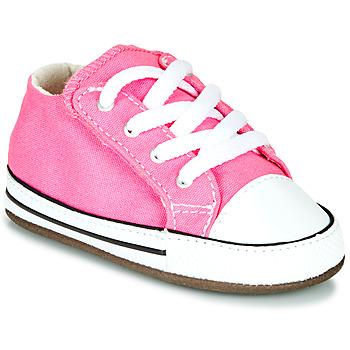 Pantofi Fete Pantofi sport stil gheata Converse Chuck Taylor First Star Canvas Hi Roz