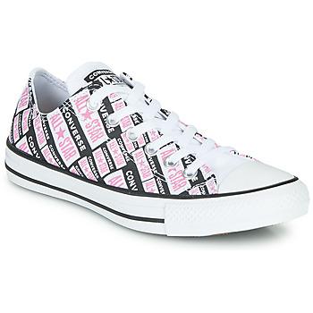 Pantofi Femei Pantofi sport stil gheata Converse CHUCK TAYLOR ALL STAR LOGO PLAY Alb / Roz / Negru