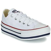 Pantofi Fete Pantofi sport stil gheata Converse CHUCK TAYLOR ALL STAR PLATFORM EVA EVERYDAY EASE Alb