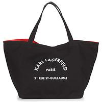 Genti Femei Sacoșe shopping și Genti shopping Karl Lagerfeld RUE ST GUILLAUE CANVAS TOTE Negru