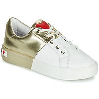 Pantofi Femei Pantofi sport Casual Love Moschino BI-COLOR SHOES Alb / Auriu