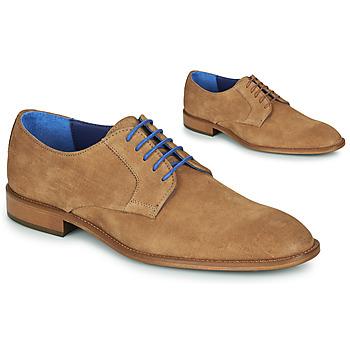Pantofi Bărbați Pantofi Derby Azzaro ZENOU Coniac