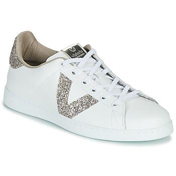 Pantofi Femei Pantofi sport Casual Victoria TENIS PIEL GLITTER Alb / Roz