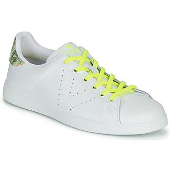 Pantofi Femei Pantofi sport Casual Victoria TENIS PIEL FLUO Alb / Galben