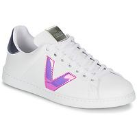 Pantofi Femei Pantofi sport Casual Victoria TENIS VINILO Alb / Albastru