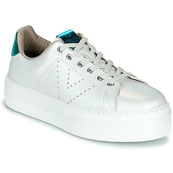 Pantofi Femei Pantofi sport Casual Victoria BARCELONA METAL Alb