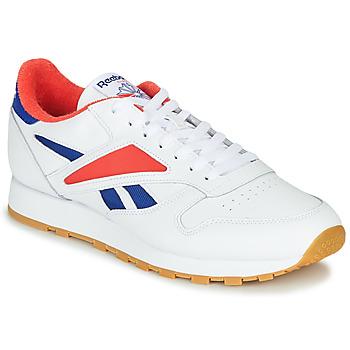 Pantofi Bărbați Pantofi sport Casual Reebok Classic CL LEATHER MARK Gri / Alb / Roșu