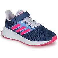 Pantofi Fete Pantofi sport Casual adidas Performance RUNFALCON C Albastru / Roz