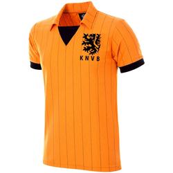 Îmbracaminte Bărbați Tricouri mânecă scurtă Copa Football Maillot rétro Pays-Bas 1983 orange