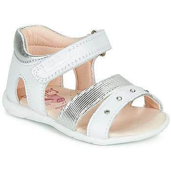 Pantofi Fete Sandale  Pablosky DINNA Alb / Argintiu