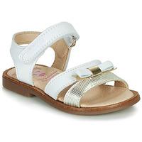 Pantofi Fete Sandale  Pablosky LOLLA Alb / Auriu