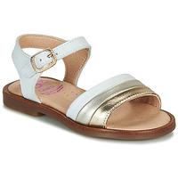 Pantofi Fete Sandale  Pablosky  Alb / Auriu