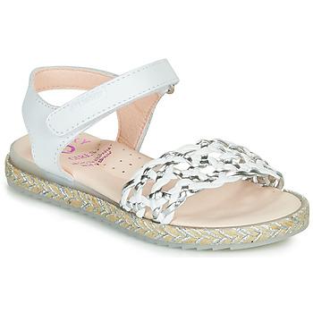 Pantofi Fete Sandale  Pablosky MINNA Alb / Argintiu
