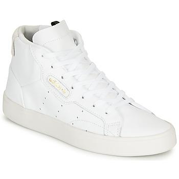 Pantofi Femei Pantofi sport stil gheata adidas Originals adidas SLEEK MID W Alb
