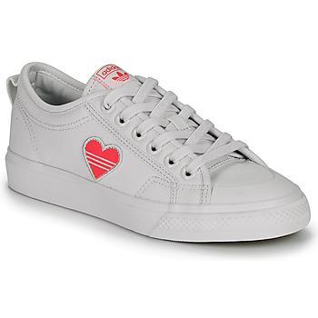 Pantofi Femei Pantofi sport Casual adidas Originals NIZZA TREFOIL W Alb
