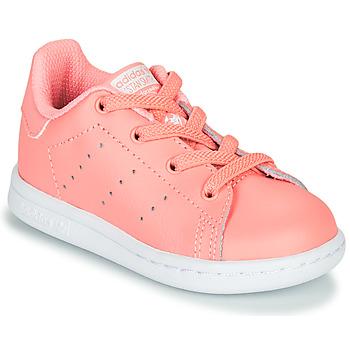Pantofi Fete Pantofi sport Casual adidas Originals STAN SMITH EL I Roz