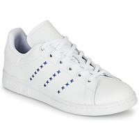 Pantofi Copii Pantofi sport Casual adidas Originals STAN SMITH J Alb / Albastru