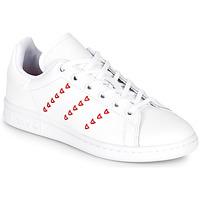 Pantofi Fete Pantofi sport Casual adidas Originals STAN SMITH J Alb / Roșu / Heart