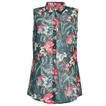 Îmbracaminte Femei Topuri și Bluze Guess SL CLOUIS SHIRT Negru / Verde / Roșu