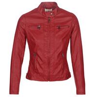 Îmbracaminte Femei Jachete din piele și material sintetic Moony Mood  Roșu