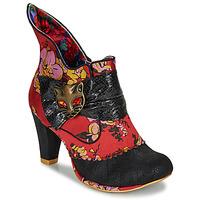 Pantofi Femei Botine Irregular Choice MIAOW Roșu / Negru