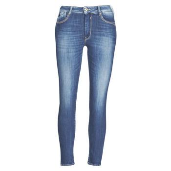 Îmbracaminte Femei Jeans slim Le Temps des Cerises PULP SLIM TAILLE HAUTE 7/8 Albastru