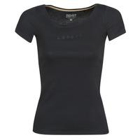 Îmbracaminte Femei Tricouri mânecă scurtă Esprit T-SHIRTS LOGO Negru