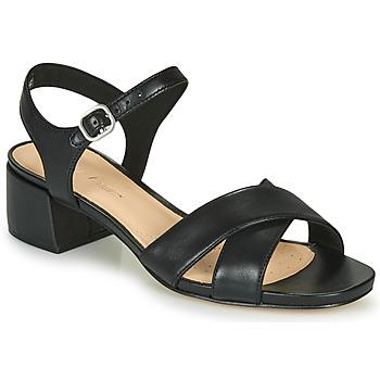 Pantofi Femei Sandale  Clarks SHEER35 STRAP Negru