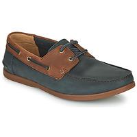 Pantofi Bărbați Pantofi Derby Clarks PICKWELL SAIL Bleumarin / Maro