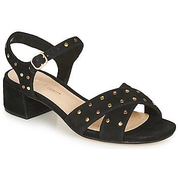 Pantofi Femei Sandale  Clarks SHEER35 STRAP Negru / Ținte