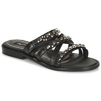 Pantofi Femei Papuci de vară Tosca Blu CUBA Negru