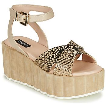 Pantofi Femei Sandale  Tosca Blu MOOREA Bej / Piton