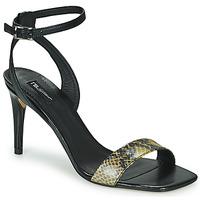 Pantofi Femei Sandale  Tosca Blu LA-DIGUE Negru / Piton / Galben
