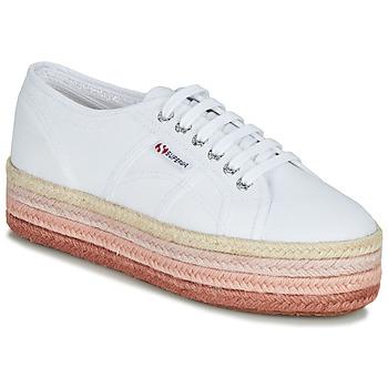Pantofi Femei Pantofi sport Casual Superga 2790-COTCOLOROPEW Alb / Roz