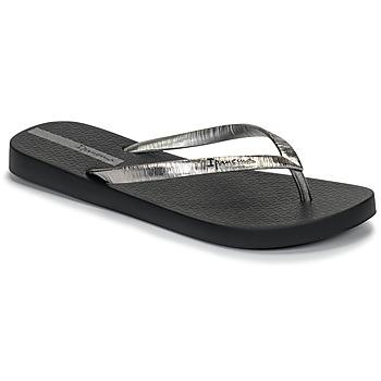 Pantofi Femei  Flip-Flops Ipanema GLAM II Negru / Argintiu