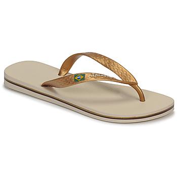 Pantofi Femei  Flip-Flops Ipanema CLAS BRASIL II Bej / Auriu