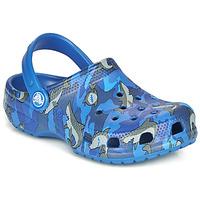Pantofi Băieți Saboti Crocs CLASSIC SHARK CLOG Blue