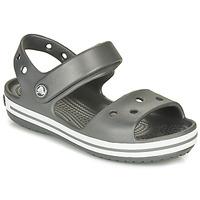 Pantofi Copii Sandale sport Crocs CROCBAND SANDAL KIDS Black / White