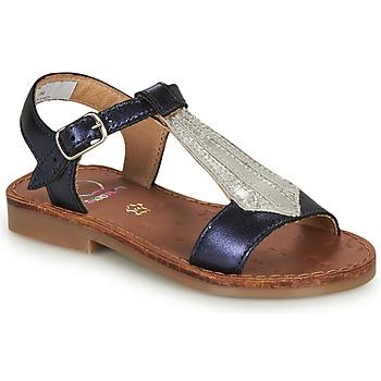 Pantofi Fete Sandale  Shoo Pom HAPPY TIE Albastru / Argintiu
