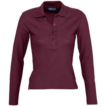 Îmbracaminte Femei Tricou Polo manecă lungă Sols PODIUM COLORS Violeta