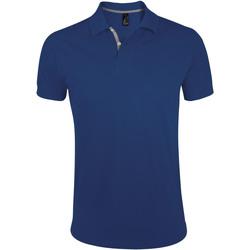 Îmbracaminte Bărbați Tricou Polo mânecă scurtă Sols PORTLAND MODERN SPORT Azul