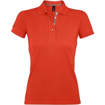 Îmbracaminte Femei Tricou Polo mânecă scurtă Sols PORTLAND MODERN SPORT Naranja