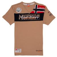 Îmbracaminte Băieți Tricouri mânecă scurtă Geographical Norway JIDNEY Bej