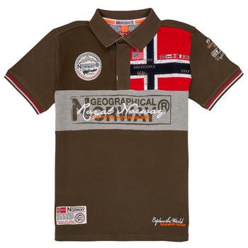 Îmbracaminte Băieți Tricou Polo mânecă scurtă Geographical Norway KIDNEY Kaki