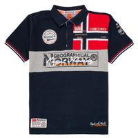 Îmbracaminte Băieți Tricou Polo mânecă scurtă Geographical Norway KIDNEY Albastru