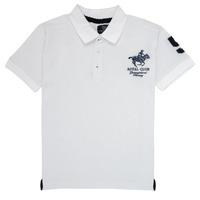 Îmbracaminte Băieți Tricou Polo mânecă scurtă Geographical Norway KAMPAI Alb